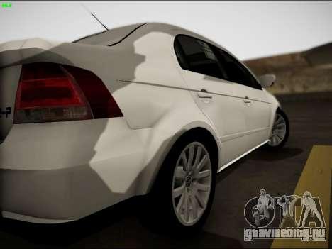 Volkswagen Voyage Taxi для GTA San Andreas вид справа