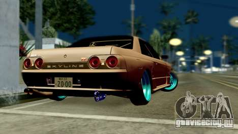 Nissan Skyline R32 Hellaflush для GTA San Andreas вид слева
