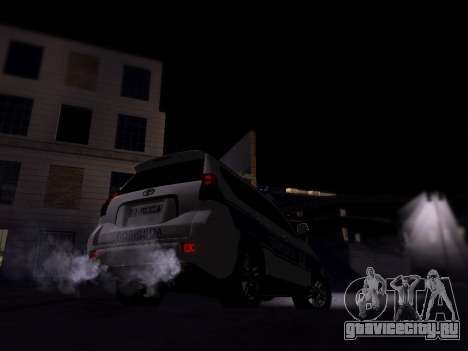 Toyota Land Cruiser POLICE для GTA San Andreas вид справа