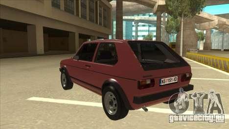 Volkswagen Golf 1 TAS для GTA San Andreas вид сзади
