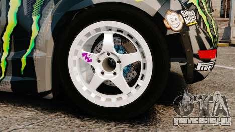 Ford Fiesta Gymkhana 6 Ken Block [Hoonigan] 2013 для GTA 4 вид изнутри