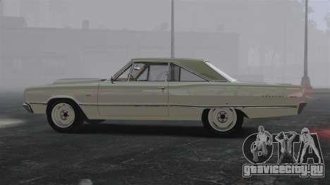 Dodge Coronet 440 1967 для GTA 4 вид слева
