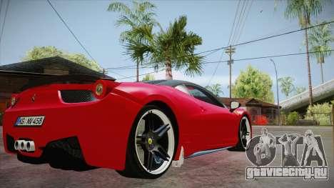 Ferrari 458 Italia Novitec Rosso 2012 v2.0 для GTA San Andreas вид справа