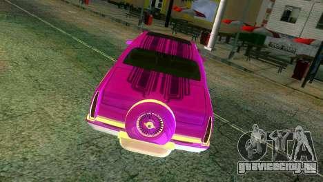 Cadillac Fleetwood Coupe для GTA Vice City вид сверху