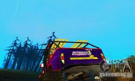 УАЗ Хантер Триал для GTA San Andreas вид сверху