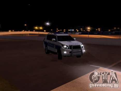 Toyota Land Cruiser POLICE для GTA San Andreas вид сверху