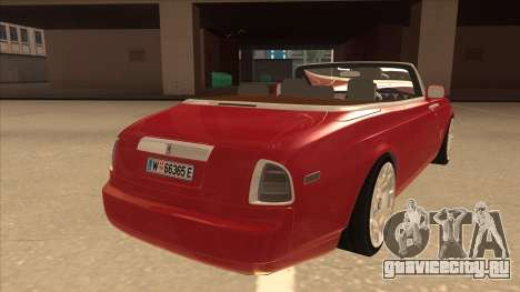 Rolls Royce Phantom Drophead Coupe 2013 для GTA San Andreas вид справа