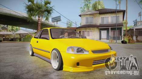 Honda Civic 1998 Tuned для GTA San Andreas вид сзади
