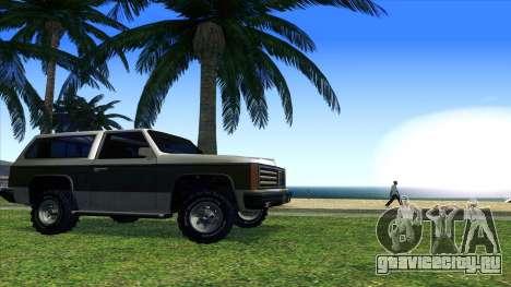 Rancher Bronco для GTA San Andreas вид сзади