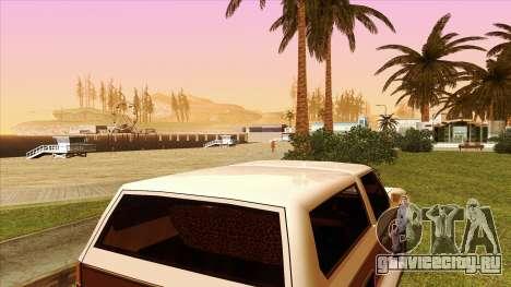 Rancher Bronco для GTA San Andreas вид изнутри