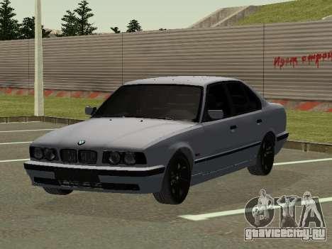 BMW 525I для GTA San Andreas вид сзади слева