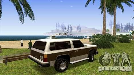 Rancher Bronco для GTA San Andreas вид сзади слева