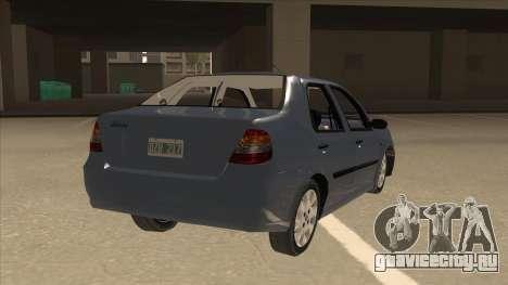 Fiat Siena Ex для GTA San Andreas вид справа