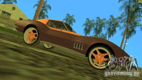 Chevrolet Corvette C3 Tuning для GTA Vice City вид сзади слева