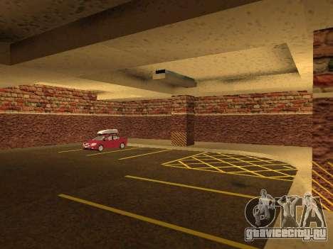 Новый интерьер подземного гаража полиции ЛС для GTA San Andreas шестой скриншот