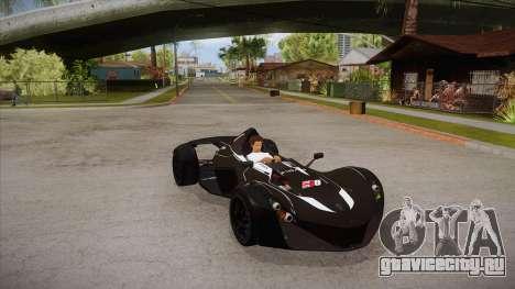 BAC Mono 2011 для GTA San Andreas вид изнутри