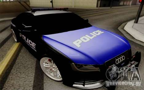 Audi RS5 2011 Police для GTA San Andreas
