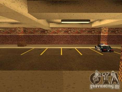 Новый интерьер подземного гаража полиции ЛС для GTA San Andreas второй скриншот
