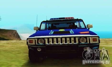 Hummer H2 G.E.O.S. для GTA San Andreas вид справа