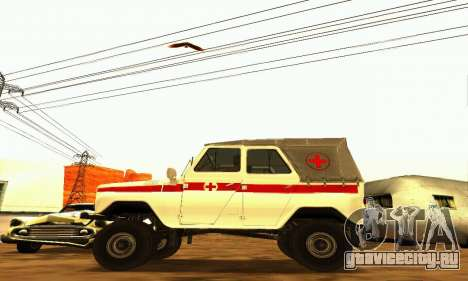 УАЗ 469 Скорая Помощь для GTA San Andreas вид слева