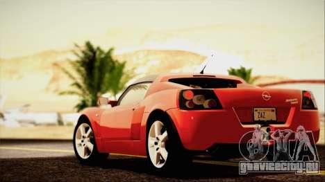 Opel Speedster Turbo 2004 для GTA San Andreas вид сверху