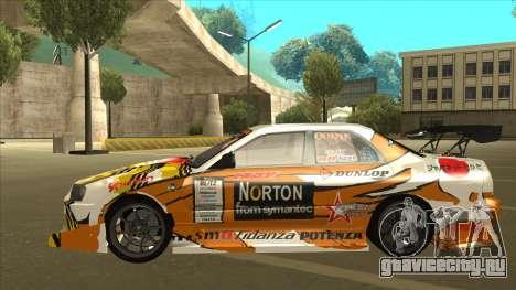 Nissan Skyline ER34 Uras GT Blitz 2010 для GTA San Andreas вид сзади