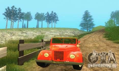 ГАЗ 69 Пикап для GTA San Andreas вид сзади слева