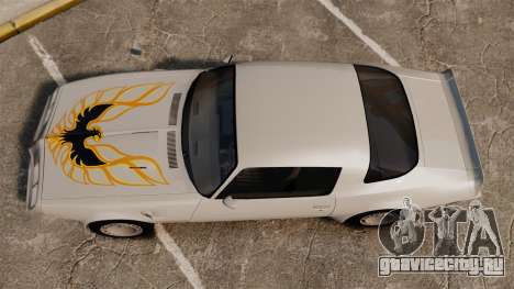 Pontiac Turbo TransAm 1980 для GTA 4 вид справа