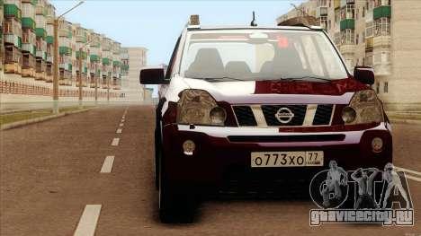 Nissan X-Trail 2009 для GTA San Andreas вид сзади слева