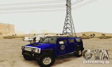 THW Hummer H2 для GTA San Andreas вид сбоку