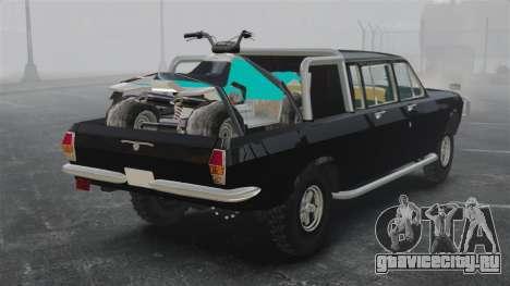 ГАЗ-2402 4x4 Пикап для GTA 4 вид сзади слева