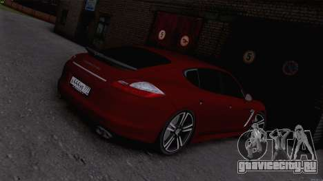 Porsche Panamera для GTA San Andreas вид слева