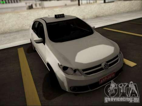 Volkswagen Voyage Taxi для GTA San Andreas вид сзади