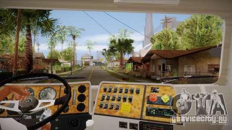 International 4700 для GTA San Andreas вид изнутри
