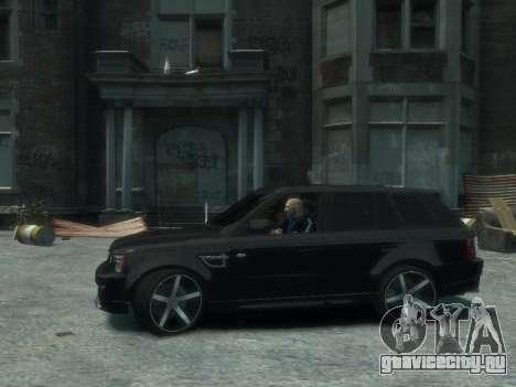 Range Rover Sport 2013 для GTA 4 вид сзади