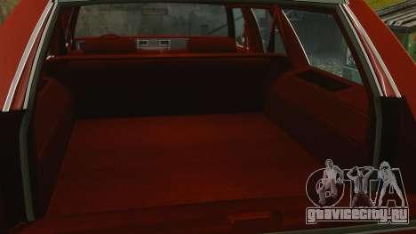 Chevrolet Caprice Wagon 1989 для GTA 4 вид изнутри