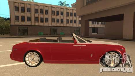 Rolls Royce Phantom Drophead Coupe 2013 для GTA San Andreas вид сзади слева
