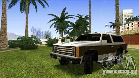Rancher Bronco для GTA San Andreas вид слева