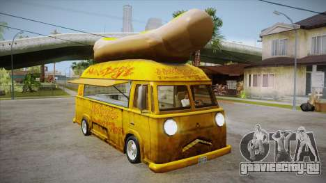 Hot Dog Van Custom для GTA San Andreas вид изнутри
