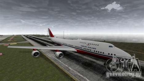 Самолёт Турецких авиалиний для GTA 4 вид справа