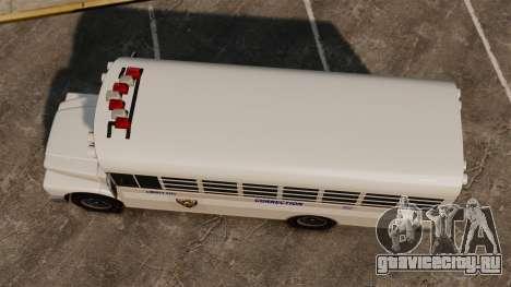 Тюремный автобус Liberty City для GTA 4 вид справа