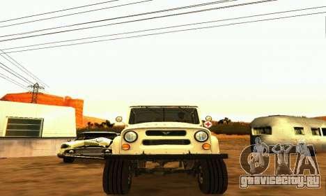 УАЗ 469 Скорая Помощь для GTA San Andreas вид сзади
