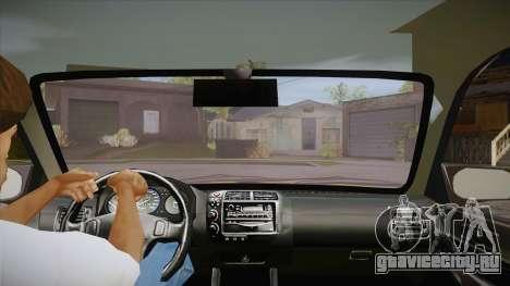Honda Civic 1998 Tuned для GTA San Andreas вид изнутри