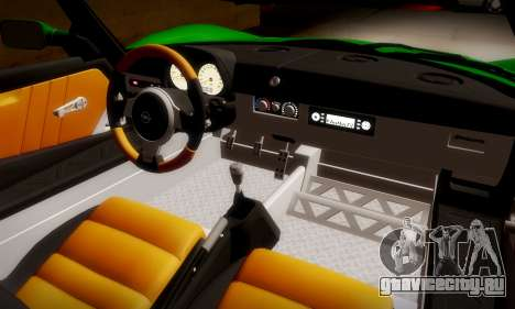 Opel Speedster Turbo 2004 для GTA San Andreas вид изнутри