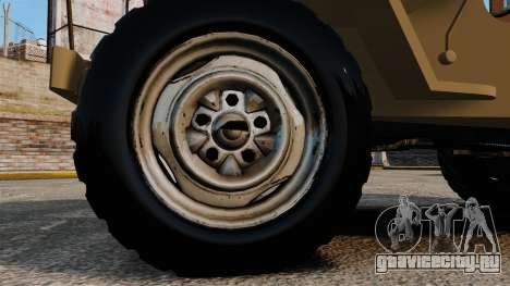 Willys MB для GTA 4 вид сзади