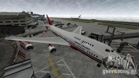 Самолёт Турецких авиалиний для GTA 4 вид сзади слева