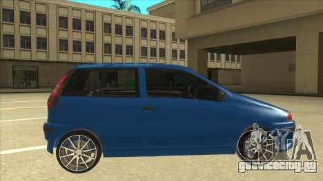 Fiat Punto MK1 Tuning для GTA San Andreas вид сзади слева