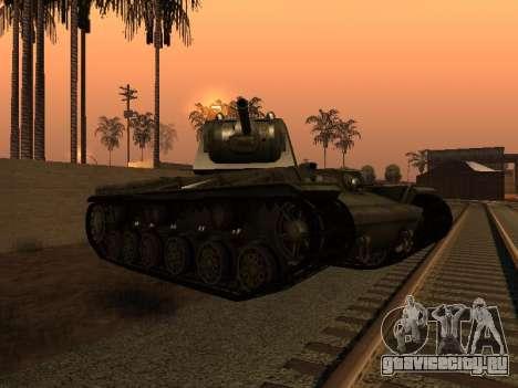 КВ-1 для GTA San Andreas вид справа
