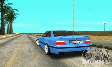 BMW M3 (E36) для GTA San Andreas вид сзади слева