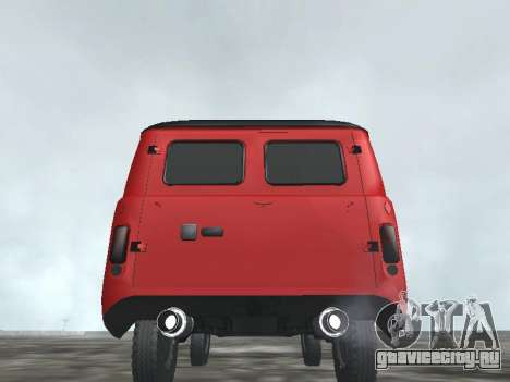 УАЗ 22069 для GTA San Andreas вид сзади слева